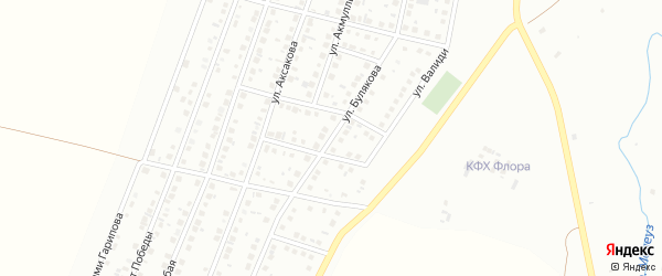 Улица Булякова на карте Мелеуза с номерами домов