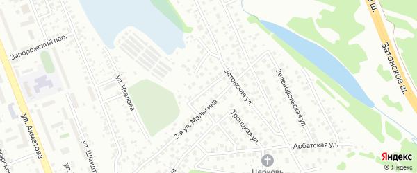 Вьюжная улица на карте поселка Тихой Слободы с номерами домов