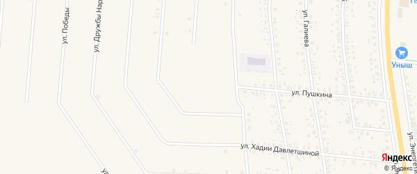 Улица Пушкина на карте села Старобалтачево с номерами домов