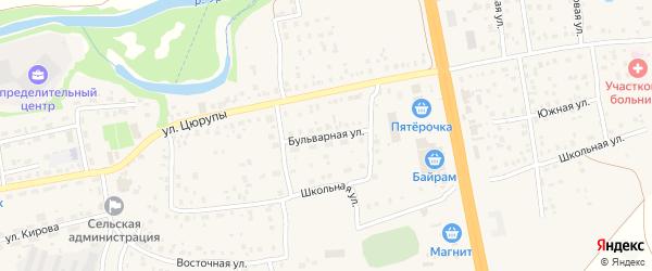 Бульварная улица на карте села Булгаково с номерами домов
