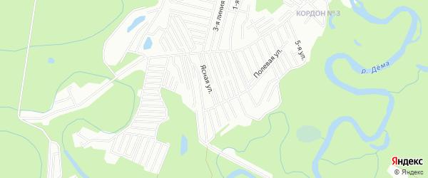 СНТ Урожай на карте Уфимского района с номерами домов