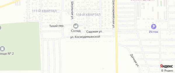 Улица Космодемьянской на карте Салавата с номерами домов