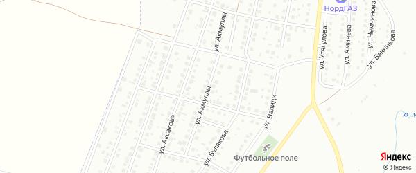 Улица Акмуллы на карте Мелеуза с номерами домов