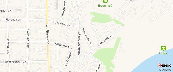 Радужная улица на карте села Михайловки с номерами домов
