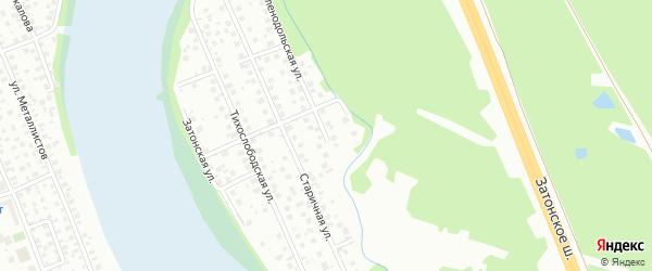 Зеленодольская улица на карте поселка Тихой Слободы с номерами домов