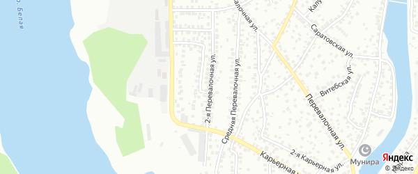 Перевалочная 2-я улица на карте Уфы с номерами домов