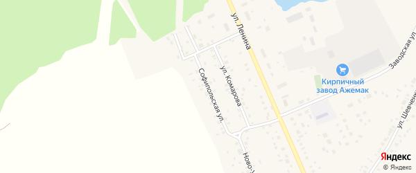 Софипольская улица на карте села Толбазы с номерами домов