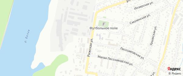 Рижская улица на карте Уфы с номерами домов