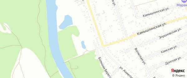 Большая Береговая улица на карте Уфы с номерами домов