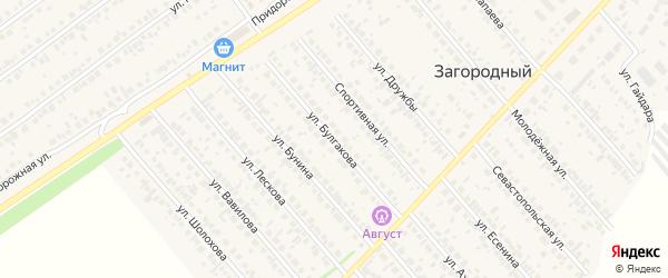 Улица Булгакова на карте села Загородного с номерами домов