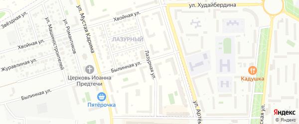 Лазурная улица на карте села Мариинского с номерами домов