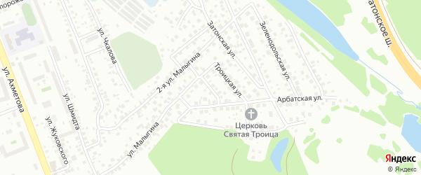 Зеленоградская улица на карте поселка Тихой Слободы с номерами домов