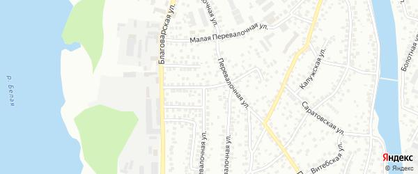 Перевалочный переулок на карте Уфы с номерами домов