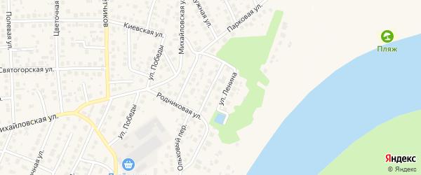 Уральская улица на карте села Михайловки с номерами домов