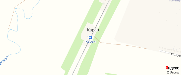Улица Станция Каран на карте деревни Разъезды Каран с номерами домов