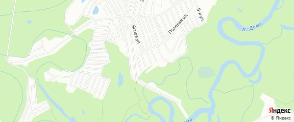СНТ Восход на карте Уфы с номерами домов