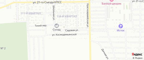 Садовая улица на карте Салавата с номерами домов