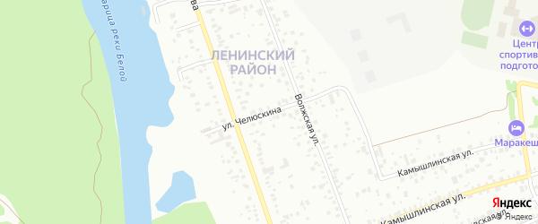 Улица Челюскина на карте Уфы с номерами домов