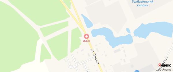 Улица Ленина на карте села Толбазы с номерами домов