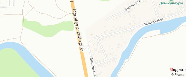 Искинская улица на карте деревни Искино с номерами домов