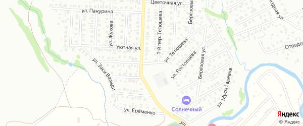 Улица Саввы Тетюшева на карте Стерлитамака с номерами домов