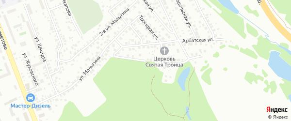 Лазоревая улица на карте поселка Тихой Слободы с номерами домов