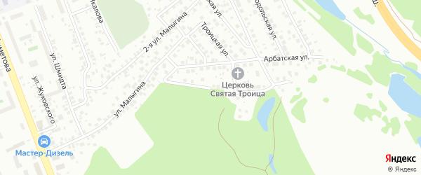 Лазоревая улица на карте Уфы с номерами домов