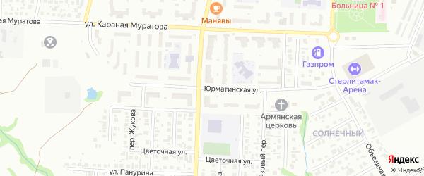 Юрматинская улица на карте Стерлитамака с номерами домов