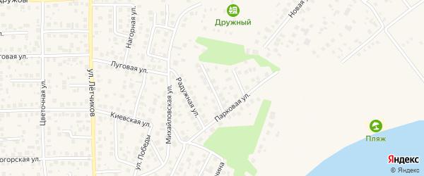 Солнечная улица на карте села Михайловки с номерами домов