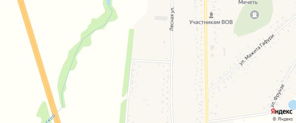 Лесная улица на карте села Ишлы с номерами домов