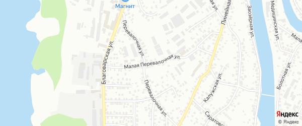 Малая Перевалочная улица на карте Уфы с номерами домов