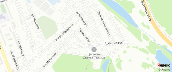 Троицкая улица на карте поселка Тихой Слободы с номерами домов