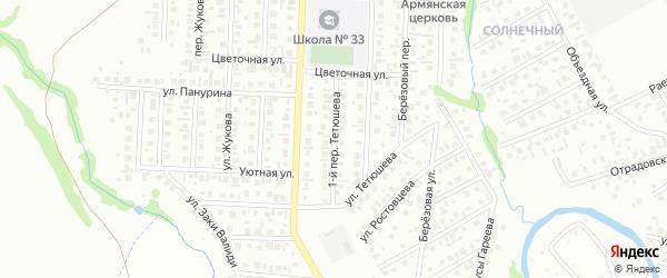 Саввы Тетюшева 1-й переулок на карте Стерлитамака с номерами домов