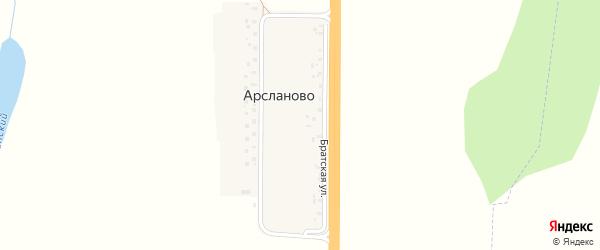 Улица Шакирова на карте деревни Арсланово с номерами домов