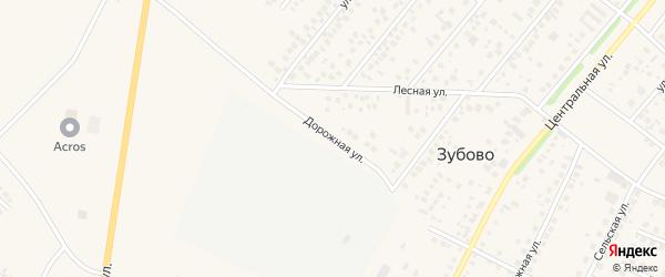 Дорожная улица на карте села Зубово с номерами домов