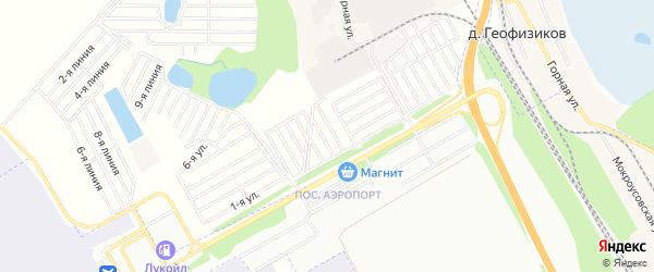 СНТ Солнечная поляна-3 на карте Уфимского района с номерами домов
