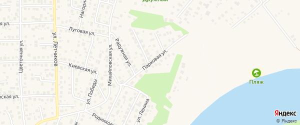 Парковая улица на карте села Михайловки с номерами домов