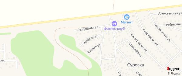 Добрая улица на карте деревни Суровки с номерами домов