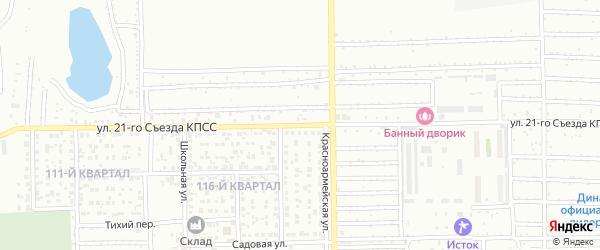 Улица 21 съезда КПСС на карте Салавата с номерами домов