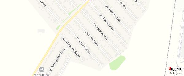 Улица Гумилева на карте села Загородного с номерами домов