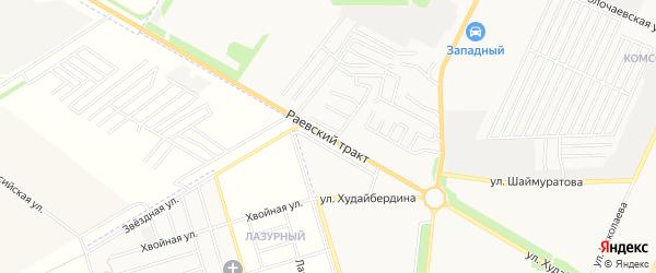Карта территории Раевского тракта в Башкортостане с улицами и номерами домов