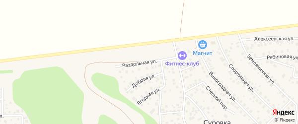 Раздольная улица на карте деревни Суровки с номерами домов