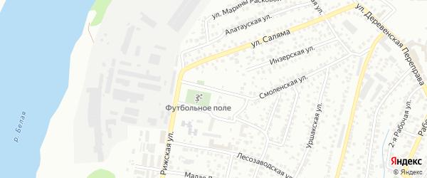 Улица Ак-Идель на карте Уфы с номерами домов