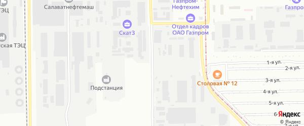 Улица Якупова на карте Салавата с номерами домов