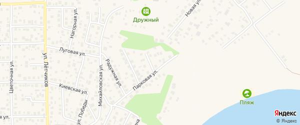 Георгиевская улица на карте села Михайловки с номерами домов