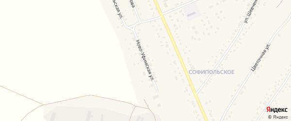 Ново-Уфимская улица на карте села Толбазы с номерами домов
