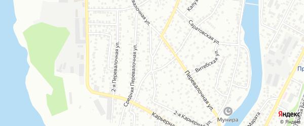 Перевалочная 3-я улица на карте Уфы с номерами домов