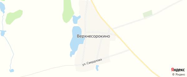 Карта деревни Верхнесорокино в Башкортостане с улицами и номерами домов