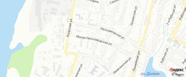 Малая Лесозаводская улица на карте Уфы с номерами домов
