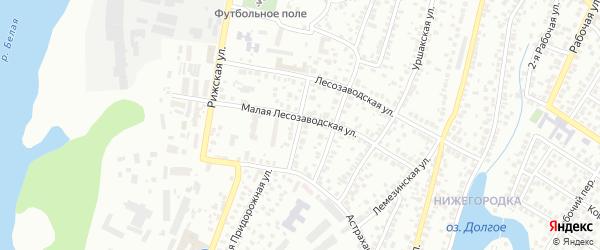 Фанерная улица на карте Уфы с номерами домов